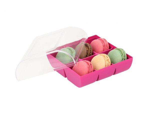Macaron-Schalen 12 Stück bunt in 6er Verpackung fuchsia