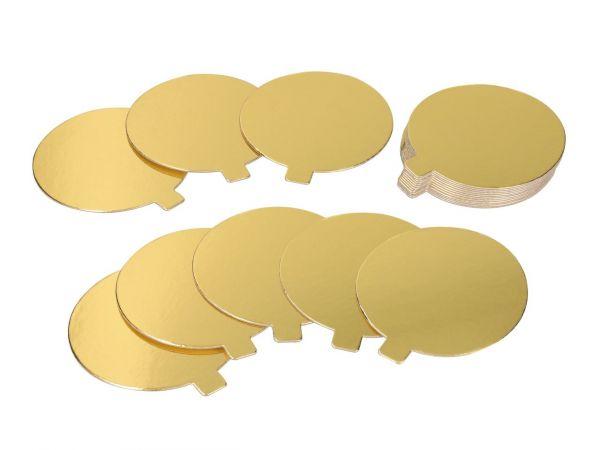 Cake-Masters Golden Plate 9cm gold glänzend 20 Stück