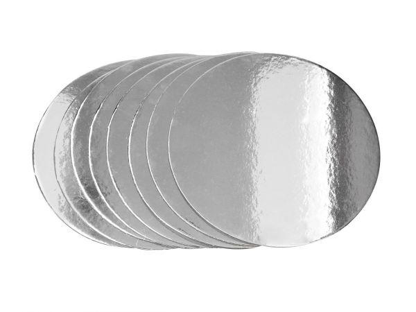Cake-Masters Silver Plate 20cm silber glänzend 8 Stück