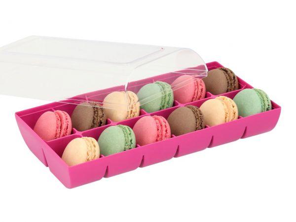 Macaron-Schalen 24 Stück bunt in 12er Verpackung fuchsia