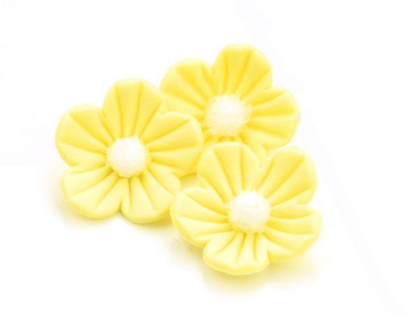 Cake-Masters Blumen 25mm gelb Zucker 16 Stück