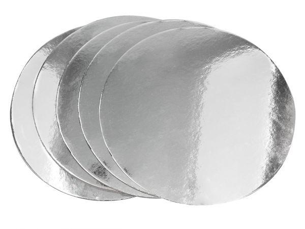 Cake-Masters Silver Plate 28cm silber glänzend 5 Stück