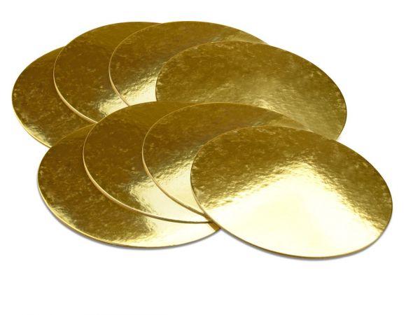 Cake-Masters Golden Plate 20cm gold glänzend 8 Stück