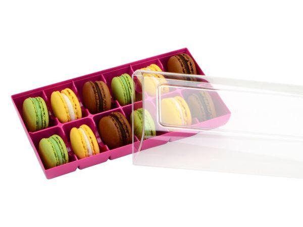 Silikomart Macaron Verpackung fuchsia 12er GREENLINE