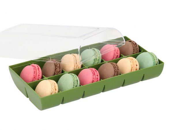 Macaron-Schalen 24 Stück bunt in 12er Verpackung grün