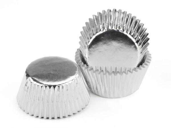 Cake-Masters Muffinkapseln 50mm Alu silber 60 Stück