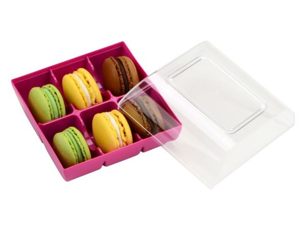 Silikomart Macaron Verpackung fuchsia 6er GREENLINE