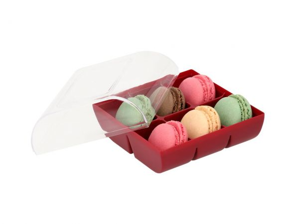 Macaron-Schalen 12 Stück bunt in 6er Verpackung ruby
